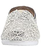 Toms Classic Silver Crochet Glitter Youth Espadrilles Shoes-12 -