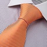DAA3A01T Las rayas anaranjadas tejieron el regalo de la econom¨ªa de la corbata del desgaste formal de Microfiber Por Dan Smith