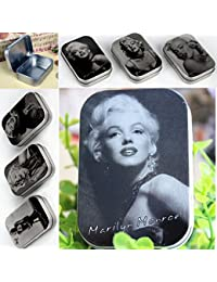 EasyBuy India Random 2pcs Box : 2pcs/lot Classic Primary Color Marilyn Monroe 6.5*4.5*1.5cm Ring Earring Box Jewelry...