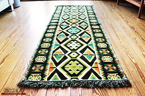 200 cm x 70 cm Alfombra Oriental, Kelim, Kilim, Carpet,Manta al Suelo , Rug nuevo de Damaskunst S 1-3-41