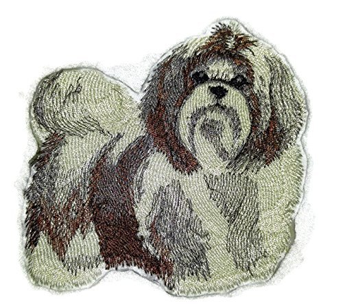 Amazing Custom Dog Portraits[Shih Tzu ] Embroidered Iron On/Sew patch [4 x 4.1][Made in USA] by BeyondVision -