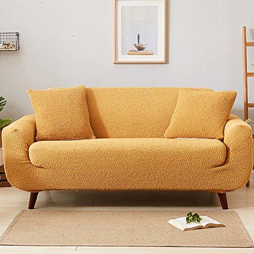 Drei Leichte, Geprägte Bügel (JR%L Japaner Alle-inklusive Sofa Abdeckung, Verdicken Sie Einfache Moderne Sofahusse Elastisch Ausgestattet 1 Stück Couch Husse-gelb 1 Sitzer:90-140cm)
