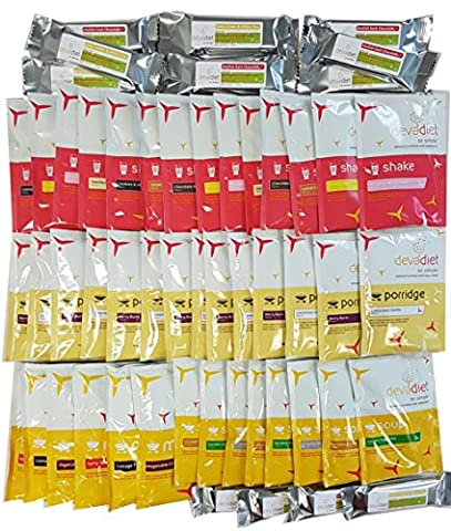 2 Week Devadiet Meal Replacement Bundle | 14 Shakes, 14 Hot Meals & Soups, 14 Porridges & 14 Bars.