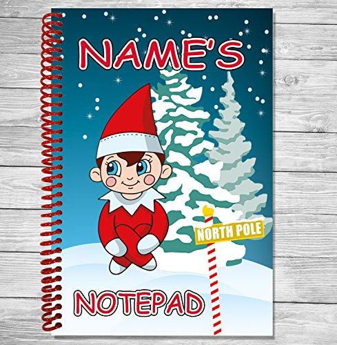 icher Weihnachten Geschenk-A5-Coil Gebundenes Notizbuch-Name oder Text hinzufügen ()