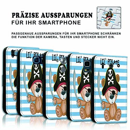 Wallet Book Style Flip Handy Tasche Case Schutz Hülle Schale Motiv Etui für Apple iPhone 6 / 6S - Variante UMV19 Design12 Design 3