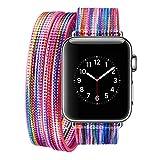 Armband für Apple Watch 38mm,PU Leder Ersatzband mit Edelstahl Gürtelschnalle Leder Uhrenarmband für Apple Watch 38mm Series 1/2 /3 (* / 274) (3)