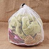 zhongzheng Wäsche-Maschentaschen Drawstring-Netz-Wäsche-Sparer-Haushaltsreinigungs-Werkzeuge - weiß