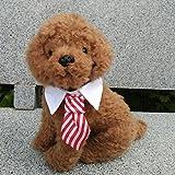 Cuello con corbata rayas rojas para mascotas Navidad, cumpleaños, celebración, bodas, fotografia, fiestas de OPEN BUY,
