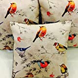 #2: Amayra Home Set of 5 Multi Colored Decorative Hand Made Cotton cushion covers 16