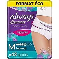 Always Discreet Super Absorbant Culottes, Taille M, Normal, 48 Culottes, Format Éco, Pour Incontinence et Fuites…