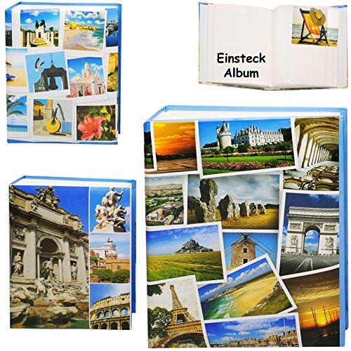 alles-meine.de GmbH 3 Stück _ Einsteckalben / Fotoalben / Memoalben -  Reise / Urlaub - Landschaften & Städte & Strände  __ 200 Bilder & Fotos - 10 x 15 - Gebunden zum Einsteck..