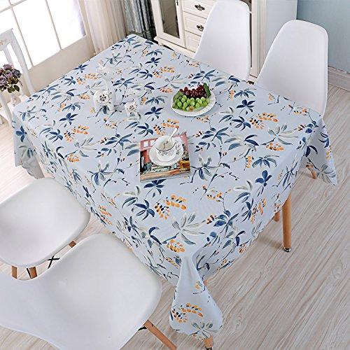 QWK Wasserfeste Tischdecke Custom aus Öl, Baumwolle, Leinen, Klein, Frisch, Einfach, Nordic Square Square Tee Tisch Tischdecke Frei, Blumen und Asche, 40 60 Zwei* (Kleine Tabelle)