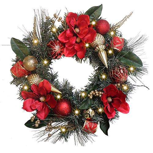 Valery Madelyn 20 Weihnachtskranz 50cm Mit 20 Led Beleuchtet