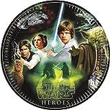 Star Wars 23cm Heroes und Villains Pappteller, 8Stück mit Helden