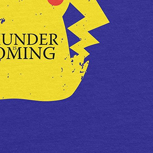 Planet Nerd - Thunder is coming - Herren Langarm T-Shirt Blau