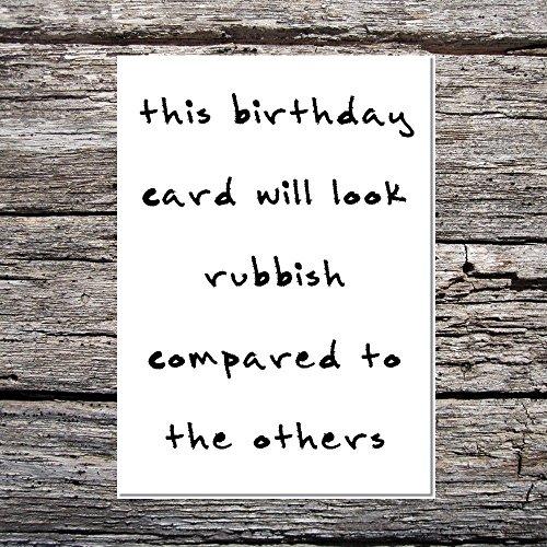 Funny AF Karten Luxus A5Hammer Karte Geburtstag ihm/Ihr Bad Handschrift, das sieht Unsinn im Vergleich