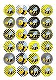, Bienen-Design, zum 1. Geburtstag, Kuchen-Topper, 4cm, Bilder, aus Reispapier