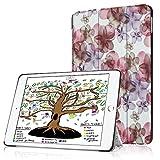 HBorna Hülle für iPad 9.7 Zoll 2018 2017, Smart Cover Case mit [Auto Schlaf/Wach] Dünn Superleicht Schutzhülle Hülle Tasche Standfunktion für New Apple iPad 9,7 2018/2017, Blume