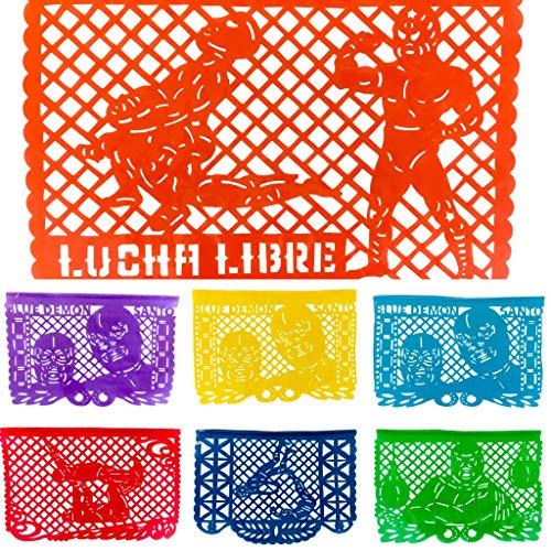 Guirnalda Papel Picado Mexicano Plástico - Lucha
