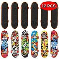 THE TWIDDLERS 12 monopatines para Dedos en 12 diseños Distintos - Fingerboard Perfectos como Detalles de Fiesta - Relleno de piñatas - Navidad, cumpleaños y Mucho más
