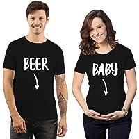 iberry's Cotton Couple Tshirt Matching Maternity Tshirt for Women and Men| Maternity Couple Tshirt Tshirt for Photoshoot…