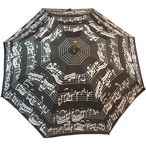 parapluie-adulte-noir-motif-partition-de-piano-manuel-manche-en-bois
