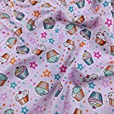 fs175 Rosa Cupcakes Sterne Exklusive Print auf hohe