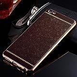 Loxxo Presents Case For Vivo V5 Plus ,Premium Leather Back Flexible TPU Silicone Soft Slim Cover for Vivo V5 Plus Brown