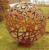 Rostsäulen Rostkugeln Gartenkugeln 80cm