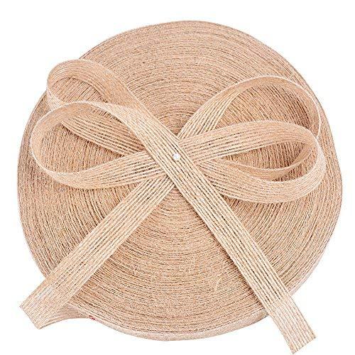 50m*1.5cm nastro iuta banda juta tela naturale vintage fai da te mestiere artigianato decorazione regalo bomboniere matrimonio compleanno imballaggio