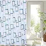 MEILI Tendina per doccia PEVA grande quadrato blu moda multicolor