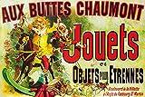 Posters: Vintage Posters XXL - Aux Buttes Chaumont, Jouets Et Objets pour Étrennes, Jules Cheret, 1885 (120 x 80 cm)