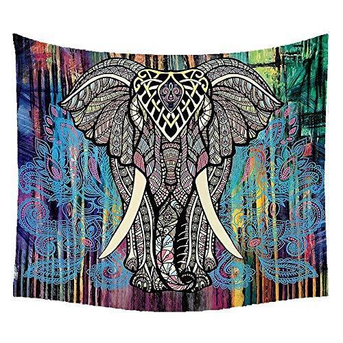 Volwco Tapiz de Elefante Indio para Colgar en la Pared, decoración del hogar, Tapiz para Colgar en la Pared, Tapiz para habitación, 150 x 130 cm