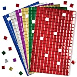 Baker Ross Selbstklebende Mosaik-Quadrate aus Moosgummi, Metallic – Ideal für Weihnachtskunst und Bastelarbeiten (1440 Stück Pro Packung)