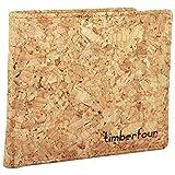 Timberfour® Kork Portemonnaie - vegane und nachhaltige Geldbörse für Männer und Frauen mit Münzfach