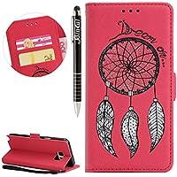 Galaxy Note 5 Hülle, Galaxy Note 5 Hülle Ledertasche Brieftasche im BookStyle, SainCat PU Leder Wallet Case Folio... preisvergleich bei billige-tabletten.eu