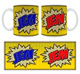 Jem Comic Book Art Personalised Name Mug
