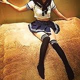 - 61QQC5tAWFL - Olanstar Sexy Cosplay Schulmädchen Dessous Outfit Mini Sailor Anzug mit Strümpfen