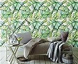 (200X140CM), Alte Zeitung 3D tapete - Europa und Amerika Retro tropische Pflanzen Bananenblatt Tapete Wandbild Tapete - Wallpaper Poster Wanddekoration von Bestwind