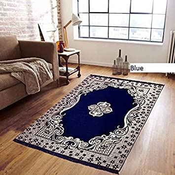 Buy Reliable Trends Velvet Touch Chenille Carpet For Living Room Dining Hall Mats Floor Blue Online At Low Prices In India