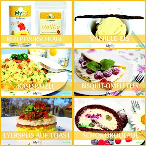 MyEy VollEy Ei-Ersatz, natürlich & voll aufschlagbar, universell einsetzbar, lactosefrei & vegan, 1er Pack (1 x 1 kg) - 5
