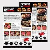 Int!rend sein mit der 3 in 1 Burger Press - Hamburger selber machen, perfekt für Frikadellen Hackfleisch Cheeseburger Buletten Burgerpresse | Version 2017 | Patty Maker Hamburgerpresse Grillzubehör BBQ -