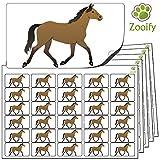 480 x Aufkleber - Pferd (38 x 21 mm). Hochwertige selbstklebende Etiketten mit Tiermotiv von Zooify.