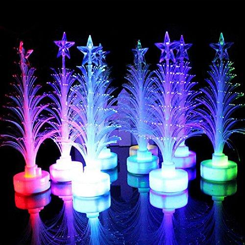 ILOVEDIY 5Pcs Changement de couleur LED Arbre de Noël optique Lumière de décoration de Noël Party Décor