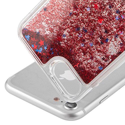 iPhone 7 Coque Clear,iPhone 7 Coque Transparente,iPhone 7 Plastique Etui Transparent Diamant Housse Coque Hard Case Cover,EMAXELERS iPhone 7 Dual Layer Plastic Liquide Coque Bling Etui Plastic Case Co Star 1