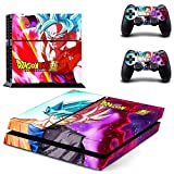 eFinger Vinyle Protection For Dragon Ball Body Design Decal Skin Sticker Autocollant for PS4 Playstation 4 Console+Controllers