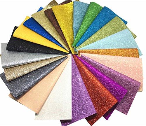 YXJD 22pc Glitzer Bastelstoff Leinwände Segeltuch in Verschiedenen Farben 20 x 22cm für Handwerk DIY Schmuck Schuh Deko (Blume Schuhe Stoff)