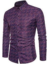 Homme Impression Affaires Chemises Casual Chemise Tops Slim Fit Avec Boutons 0e0fc4524216