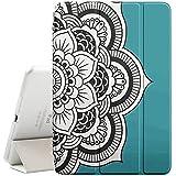 Graphic4You Flor mandala (turquesa) Funda Carcasa con Stand Función y Imán Incorporado para el Sueño/Estela para Apple iPad Mini 1 / 2 / 3