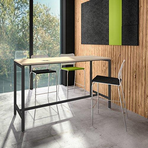 Weber Büro Stehtisch NOVA 180 x 70 cm groß Hochtisch Bartisch Tresentisch Theke,...